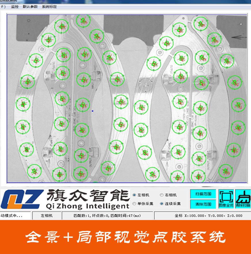 全景加局部视觉点胶系统